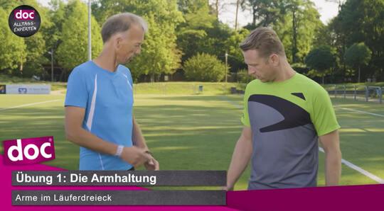 Lauf-ABC – Die Armhaltung