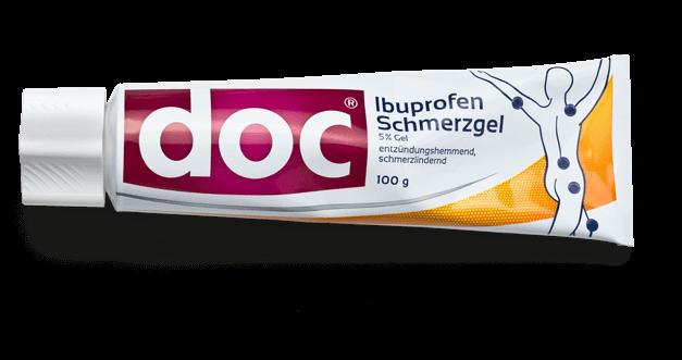 Vorteile doc<sup>®</sup> Ibuprofen Schmerzgel