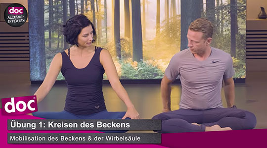 Yogaübung: Beckenkreisen