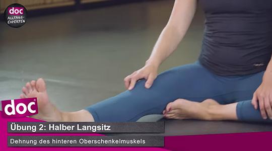 Dehnen mit Yoga – Halber Langsitz